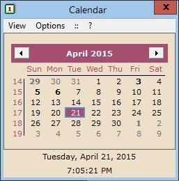 HS Calendar full screenshot