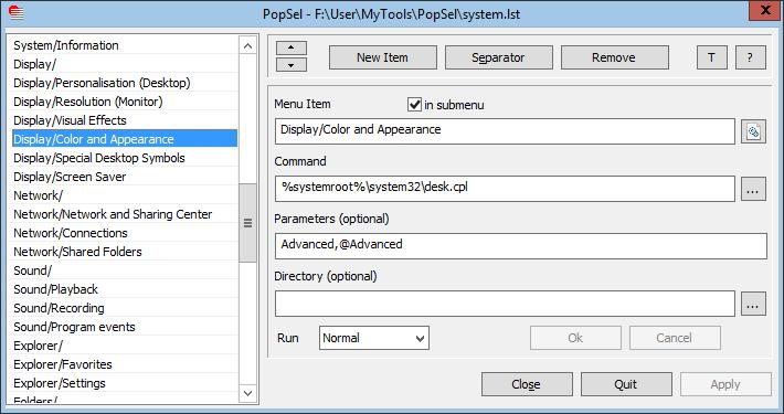 Full PopSel screenshot
